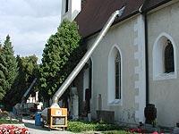 Bild Behandlung einer Kirche im Heißluftverfahren
